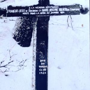 L'ancienne croix des Fiancés ( photo F. Detry )