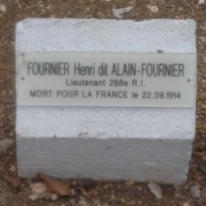 Endroit ou fut trouve le corps d'Alain Fournier