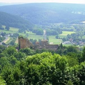 Le château de Franchimont vu d'en haut