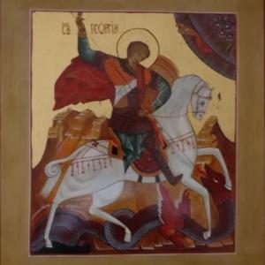 St Georges et le dragon de Lydda ( Rosalie BUREAU )