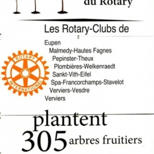 Plantation d'un verger de 305 arbres fruitiers à Cligneval (Malmedy )