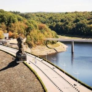 Vue du barrage ( photo : L' Avenir )
