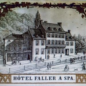 l'Hôtel Faller, rue de la Sauvenière remplacé par l'actuel Hôtel Britannique