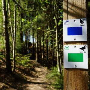 La signalétique ( N° de la promenade et symbole )