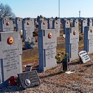 22) Les stèles d'anciens combattants décédés après la guerre.  ( Photo F. Detry )