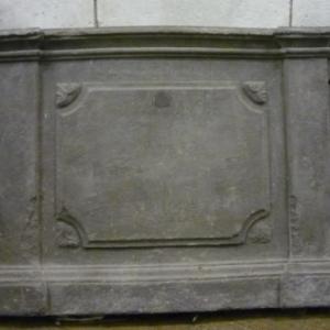Une partie de banc d'autel