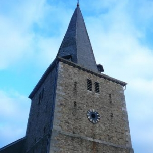 Le clocher de l'eglise de Sart - lez- Spa