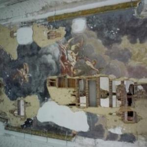 Details du plafond de la salle de bal du Waux - Hall