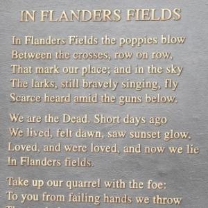 """«In Flanders Fields les coquelicots poussent"""" reste à ce jour l'un des poèmes de guerre les plus mémorables jamais écrites. C'est un héritage durable de la terrible bataille dans le saillant d'Ypres"""