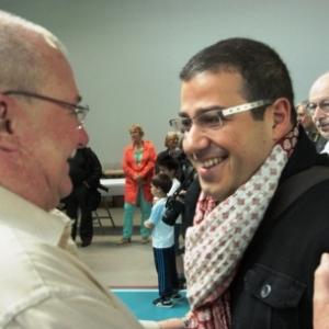 Un Directeur et un Chef heureux ...( Photo de Ch. Marechal )