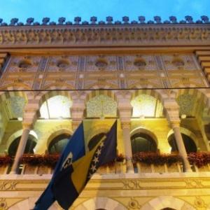 Sarajevo  La Bibliotheque Nationale et Universitaire de Bosnie-Herzegovine