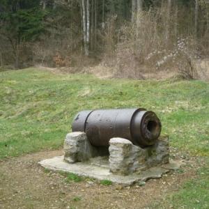 Bezonvaux : partie de canon