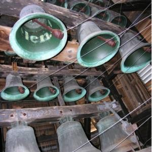 """Les cloches du carillon ( Photo """"L'Avenir"""")"""
