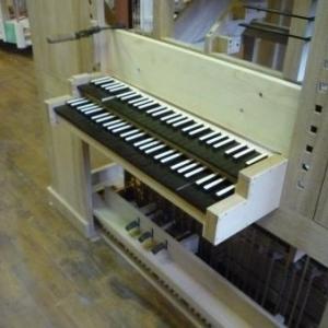 La manufacture d'orgues : un clavier d'orgue