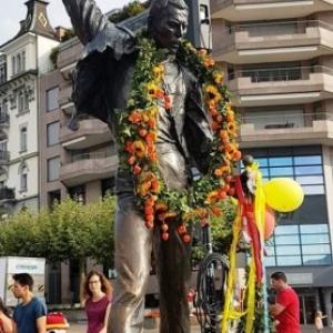 Statue de Freddie MERCURY a Montreux ( CH )