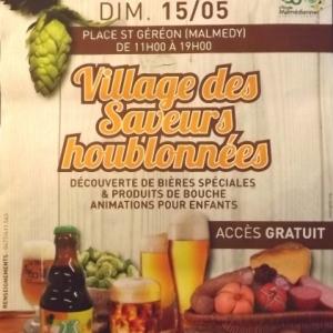 Sam. 14 et dim. 15 mai  150eme anniversaire  Village des saveurs houblonnees de 11h a 19 h