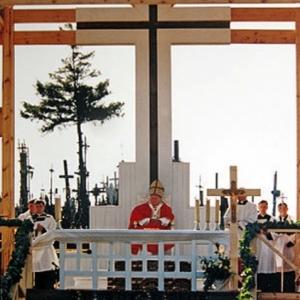 Le 7 septembre 1993, le Pape Jean-Paul II s'est rendu a la Colline des Croix