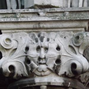 Liege : le Palais des Princes - Eveques ( detail )