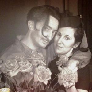 Dali et Galia, sa femme