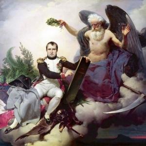 Napoléon Ier couronné par le Temps, écrit le Code Civil, Jean-Baptiste Mauzaisse, 1833.  ( GETTY IMAGES )