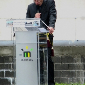 Allocution de Philippe ROYAUX, pres de la passerelle Counson