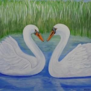 """ Comme un coeur "" ( Rose - Marie PAQUAY )"