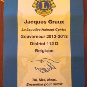 Le fanion de M. Jean Graux, Gouverneur