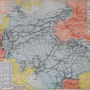 Carte prussienne Août 1914