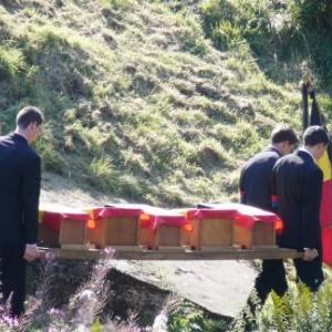 L arrivee des 5 petits cercueils