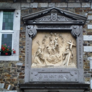 L'Abbaye du Val Dieu : les deux anneaux se retrouvent en de nombreux endroits