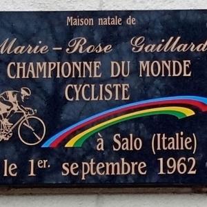 Maison natale de Marie-Rose GAILLARD, championne du monde cycliste à Salo en 1962