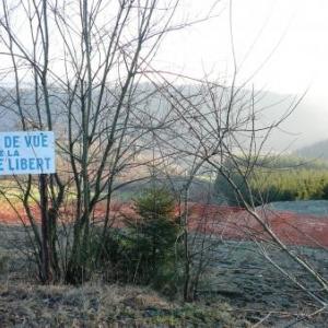 La piste de ski de la Ferme Libert inutilisee