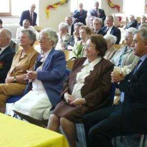 M. FORET, Gouverneur de la Province de Liege aux cotes de Mme DALEM