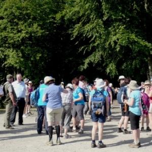 Arrivee des randonneurs quebecois ( photo de O. Servais )
