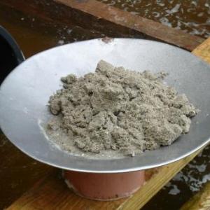 Le sable dans la batee
