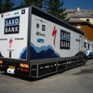 Un des camions de Saxo - Bank