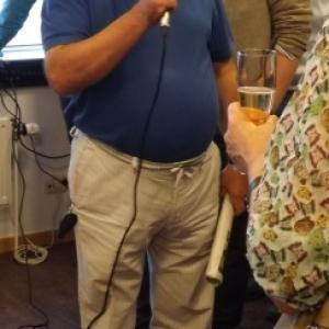 M. Dahmen donne les dernières informations pour la visite du circuit de Francorchamps