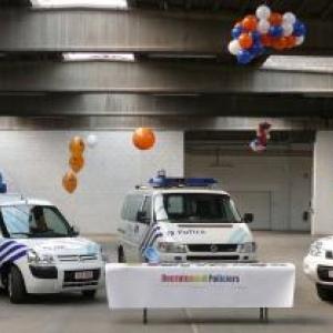 Des vehicules de la Zone de Police de Stavelot - Malmedy