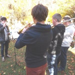 Les musiciens et leur professeur, M. Dujardin