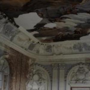 Plafond de la salle de bal du Waux - Hall