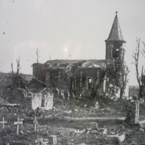 Eglise de Bezonvaux apres 1914