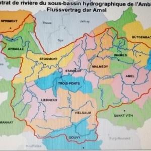 Carte du bassin de l' Ambleve
