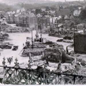 Malmedy apres les bombardements ( Photo : Freddy Freches )