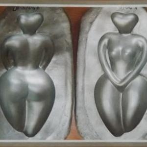 Sculpture en terre cuite ( Diva )