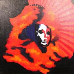 Acrylique sur toile de Monique Wouters - Delvigne