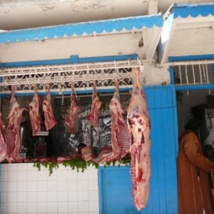 Boucherie dans la medina d'Essaouira