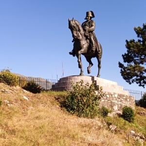 La statue équestre de Napoléon à Laffrey