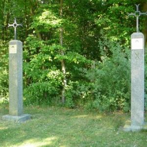 Le chemin de croix a proximite de la Chapelle