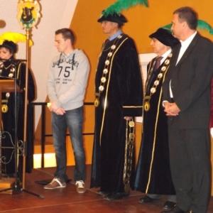 Reception de l'Orde do Cwarme : Bertrand BAGUETTE, Freddy HERBRAND et M. DASNOY, Presidents d'Honneur, Benoit CEREXHE