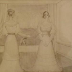 """"""" La robe de mariee """" ( Paul DELVAUX )"""